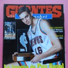 Coleccionismo deportivo: REVISTA GIGANTES DEL BASKET Nº 861 2002 PAU GASOL ROOKIE DEL AÑO 01/02-POSTER MEMPHIS NBA-PAMESA. Lote 47319493
