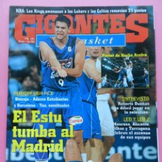 Coleccionismo deportivo: REVISTA GIGANTES DEL BASKET Nº 865 2002 ESTUDIANTES ACB-POSTER AZOFRA-DUEÑAS-ALICANTE-BILBAO-MANRESA. Lote 47320471