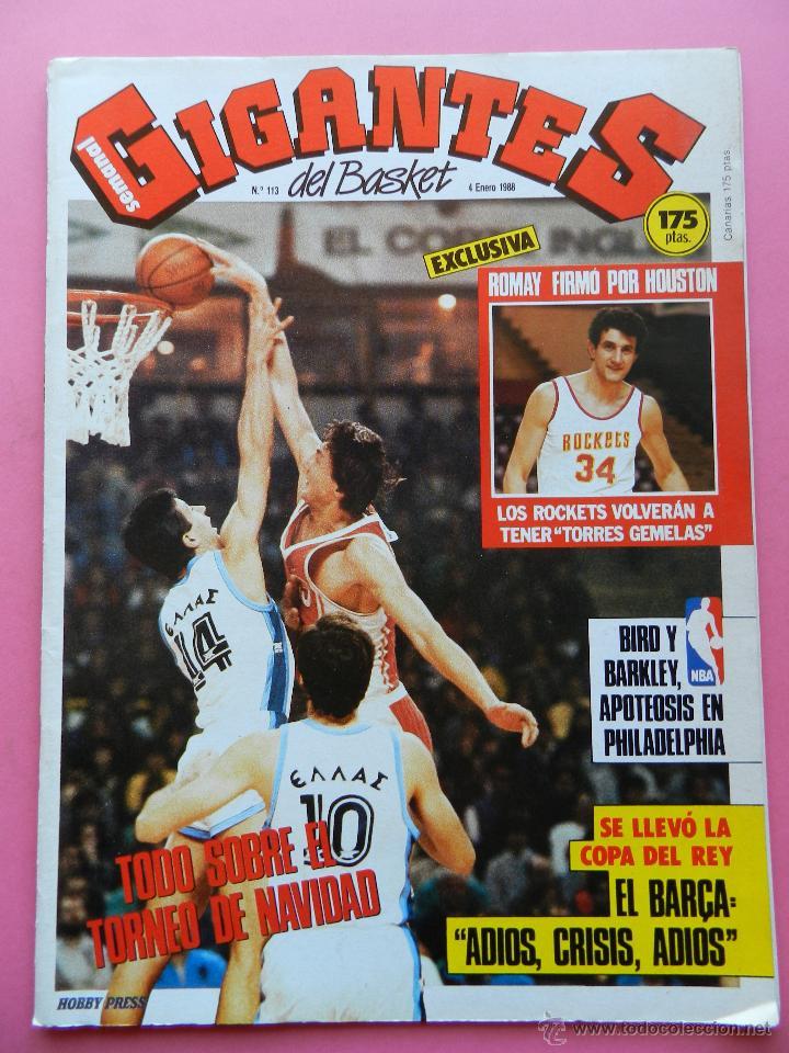 REVISTA GIGANTES DEL BASKET Nº 113 1988 ROMAY ROCKETS NBA-BARCELONA CAMPEON COPA REY-BIRD-BARKLEY (Coleccionismo Deportivo - Revistas y Periódicos - otros Deportes)