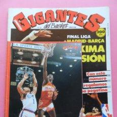 Coleccionismo deportivo: REVISTA GIGANTES DEL BASKET Nº 134 1988 PEGATINA 3 DOMINIQUE WILKINS HAWKS-POSTER MORALES-STICKER. Lote 47353471