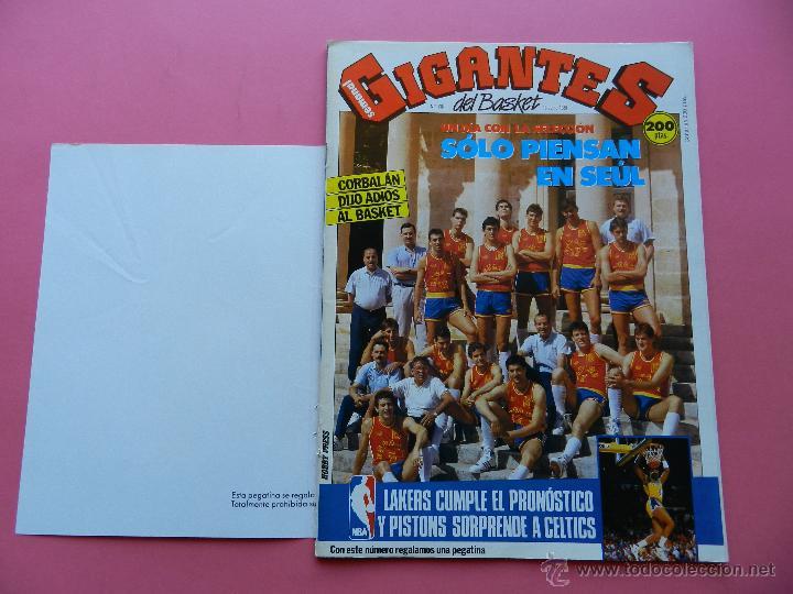Coleccionismo deportivo: REVISTA GIGANTES DEL BASKET Nº 136 1988 PEGATINA LARRY BIRD CELTICS-CORBALAN-POSTER ESPAÑA-STICKER - Foto 3 - 47353497