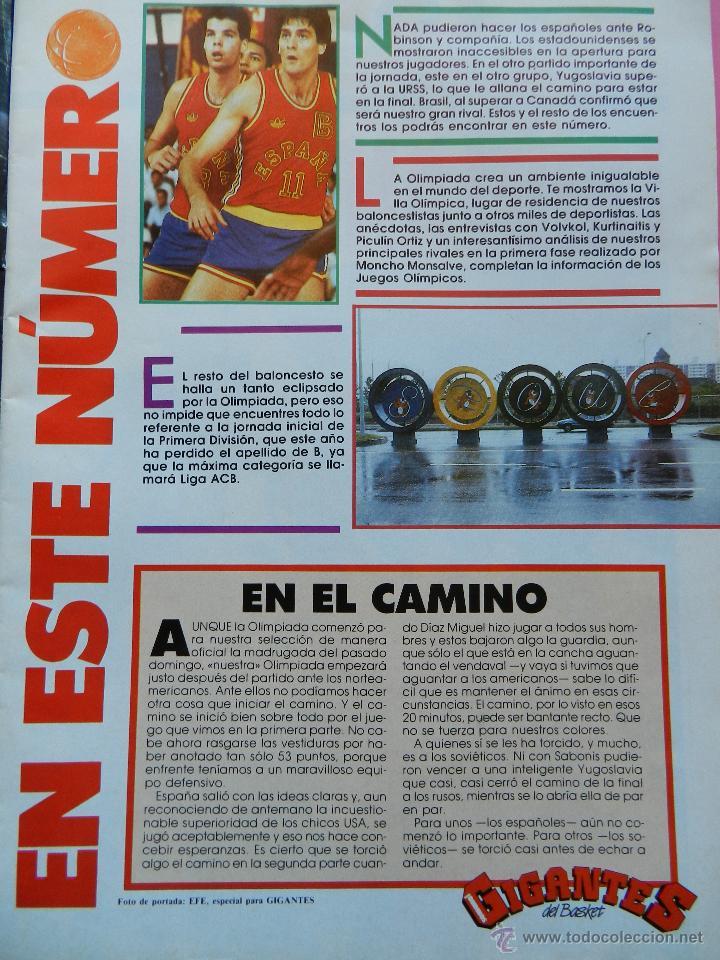 Coleccionismo deportivo: REVISTA GIGANTES DEL BASKET Nº 151 1988 PEGATINA ENGLISH NUGGETS-JJOO SEUL 88-POSTER SABONIS AFF - Foto 2 - 47367971