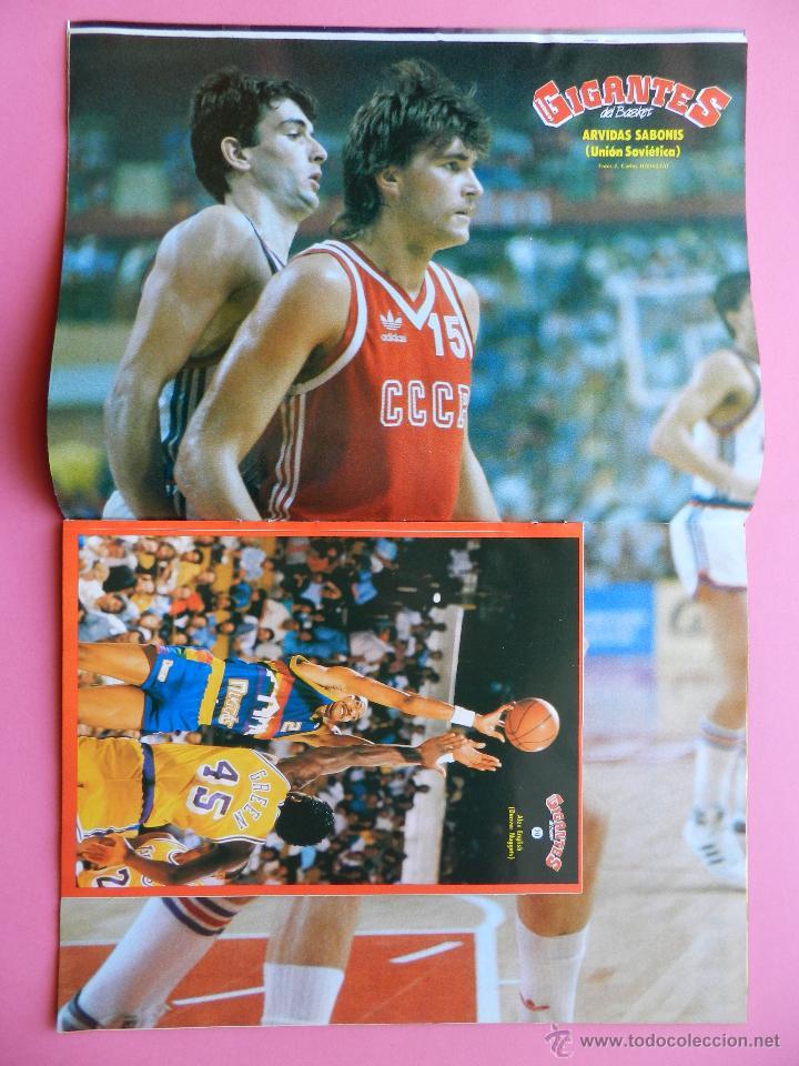 Coleccionismo deportivo: REVISTA GIGANTES DEL BASKET Nº 151 1988 PEGATINA ENGLISH NUGGETS-JJOO SEUL 88-POSTER SABONIS AFF - Foto 3 - 47367971
