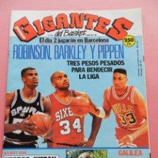 Coleccionismo deportivo: REVISTA GIGANTES DEL BASKET Nº 304 1991 GALILEA-NBA ROBINSON PIPPEN BARKLEY-POSTER JOHNSON JOVENTUT. Lote 47459348