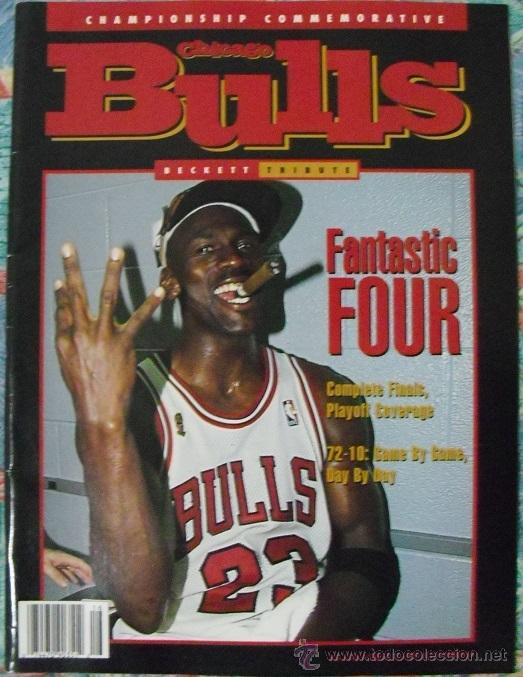 MICHAEL JORDAN - REVISTA ESPECIAL ''BULLS - FANTASTIC FOUR'' (1996) - CUARTO ANILLO - NBA (Coleccionismo Deportivo - Revistas y Periódicos - otros Deportes)