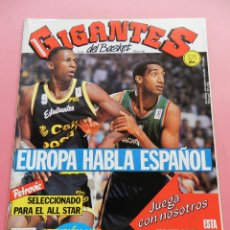 Coleccionismo deportivo: REVISTA GIGANTES DEL BASKET Nº 325 1992 PETROVIC ALL STAR NBA-NORRIS-POSTER SCHLEGEL FORUM ACB. Lote 47531708