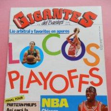 Coleccionismo deportivo: REVISTA GIGANTES DEL BASKET Nº 336 1992 PLAYOFFS ACB-FINAL FOUR-NBA JORDAN BULLS-POSTER RIVAS TAU. Lote 47541145