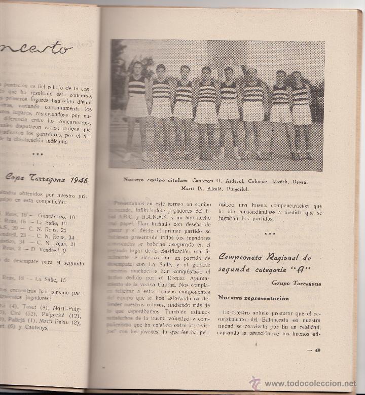 Coleccionismo deportivo: REVISTA CLUB NATACION REUS PLOMS AÑO 1947- MUCHA PUBLICIDAD DE LA ÉPOCA - Foto 3 - 47906240