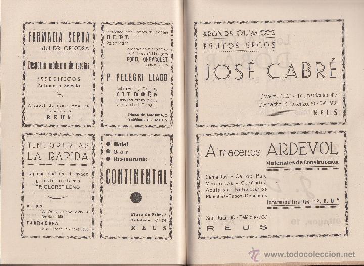 Coleccionismo deportivo: REVISTA CLUB NATACION REUS PLOMS AÑO 1947- MUCHA PUBLICIDAD DE LA ÉPOCA - Foto 4 - 47906240