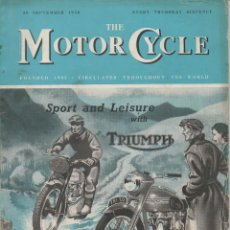 Coleccionismo deportivo: REVISTA SEMANAL THE MOTOR CYCLE N. 2477. SEPTEMBER 28TH, 1950. [ING]. Lote 48396126