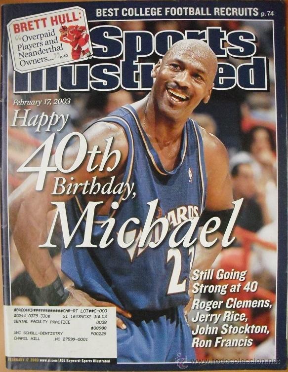 MICHAEL JORDAN - REVISTA ''SPORTS ILLUSTRATED'' - 40.º CUMPLEAÑOS (2003) - NBA (Coleccionismo Deportivo - Revistas y Periódicos - otros Deportes)