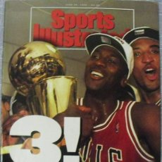Coleccionismo deportivo: MICHAEL JORDAN & CHICAGO BULLS - REVISTA ''SPORTS ILLUSTRATED'' (JUNIO 1993) - TERCER ANILLO - NBA. Lote 49175823