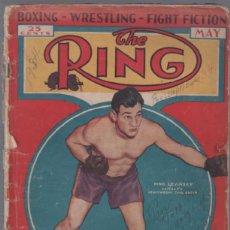 Coleccionismo deportivo: THE RING,RARA REVISTA DE BOXEO AMERICANO,1934,PRIMO CARNERA,UNA JOYA!!!!!!!. Lote 49554325