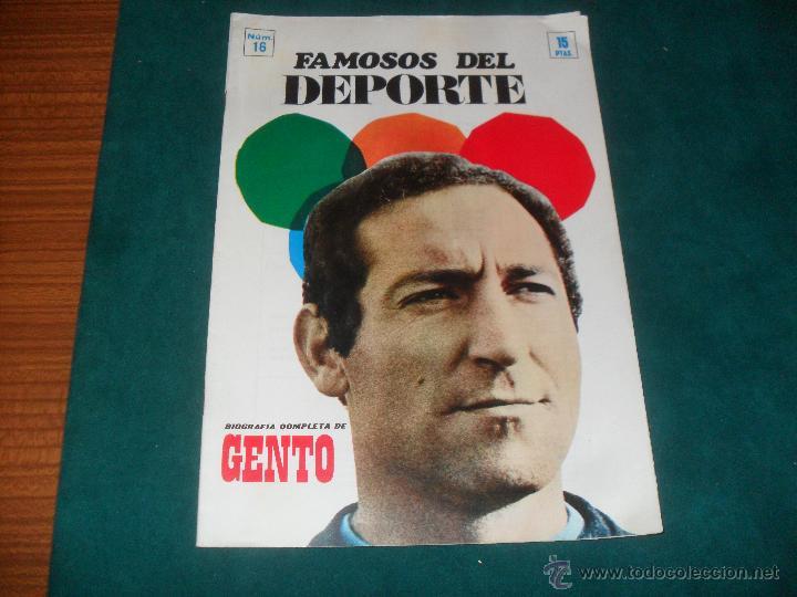 FAMOSOS DEL DEPORTE, GENTO. CODESA 1969 (Coleccionismo Deportivo - Revistas y Periódicos - otros Deportes)