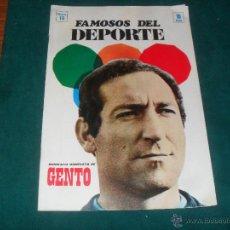 Coleccionismo deportivo: FAMOSOS DEL DEPORTE, GENTO. CODESA 1969. Lote 49761277