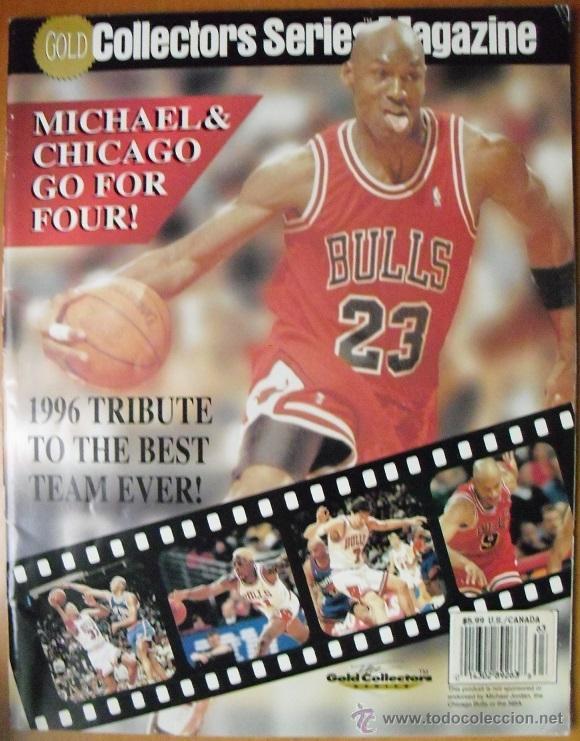 MICHAEL JORDAN & CHICAGO BULLS - REVISTA ''GO FOR FOUR!'' (1996) - NBA (Coleccionismo Deportivo - Revistas y Periódicos - otros Deportes)