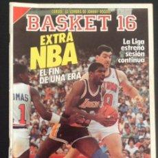 Coleccionismo deportivo: REVISTA DE 1988 BASKET 16 NUMERO Nº 57 EXTRA NBA. Lote 50088592