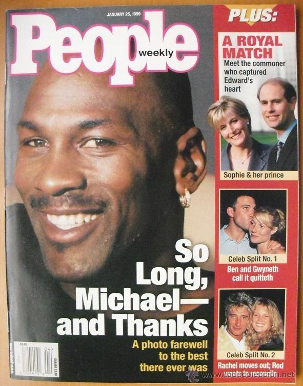 MICHAEL JORDAN - REVISTA ''PEOPLE'' - RETIRADA DE 1999 - NBA (Coleccionismo Deportivo - Revistas y Periódicos - otros Deportes)