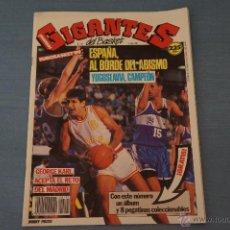 Coleccionismo deportivo: REVISTA DE BALONCESTO GIGANTES DEL BASKET Nº191 EUROBASKET 89 RAFAEL VECINA POSTER EPI DRAFT 89. Lote 50317550