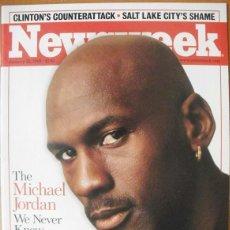 Coleccionismo deportivo: MICHAEL JORDAN - REVISTA ''NEWSWEEK'' (25-1-1999) - RETIRADA DE LA NBA. Lote 50585783