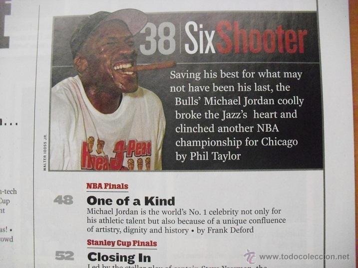 Coleccionismo deportivo: Michael Jordan - Revista ''Sports Illustrated'' (1998) - sexto anillo - NBA - Foto 4 - 45220223