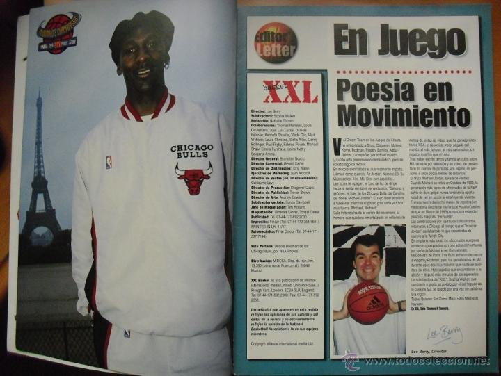 Coleccionismo deportivo: Revista ''XXL Basket'' (1997) - Michael Jordan y los Bulls, en París - NBA - Foto 3 - 50741155