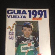 Coleccionismo deportivo: VUELTA A ESPAÑA 1991 - VUELTA 91 - GUIA BICISPORT - CICLISMO BICI BICICLETA CICLISTA POSTER G. BUGNO. Lote 50807471