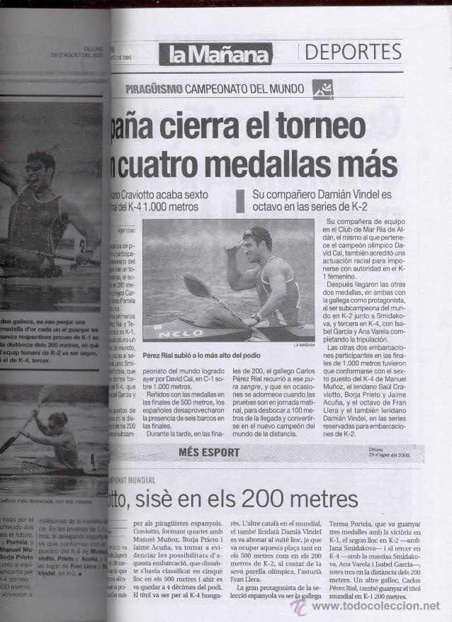 Coleccionismo deportivo: XXI RECULL ESCRIT I GRAFIC DEL PIRAGÜISME CATALÀ - ANTONI GOMEZ I VIDAL (2005) - Foto 2 - 51117366