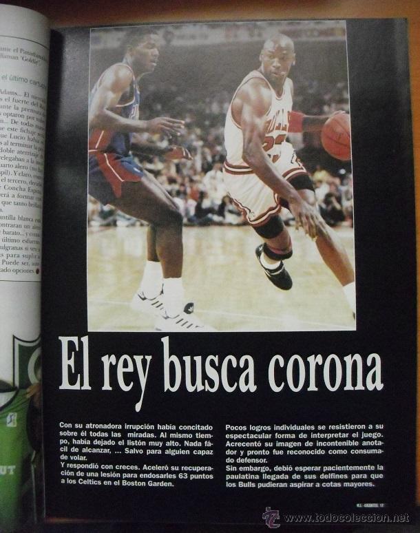 Coleccionismo deportivo: Coleccionable de Michael Jordan (1999) - Revistas Gigantes del basket - NBA - Foto 4 - 51195005