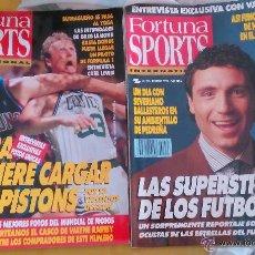 Coleccionismo deportivo: OCASION COLECCIONISTAS ANTIGUA REVISTA FUBTOL NBA Y + DEPORTES FORTUNA SPORTS 1990 POSTER INDURAIN. Lote 51356243