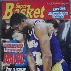 Coleccionismo deportivo: ''MAGIC'' JOHNSON CONTRAE EL VIH (SIDA) - REVISTA ''SUPERBASKET'' (NOVIEMBRE 1991) - NBA. Lote 51776487