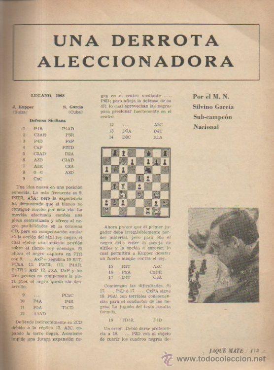 Coleccionismo deportivo: JAQUE MATE Nº 3. REVISTA DE AJEDREZ CUBANA. ÓRGANO DE LA FEDERACIÓN DE AJEDREZ DE CUBA, 1969 - Foto 4 - 51783256