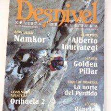 Coleccionismo deportivo: DESNIVEL. REVISTA DE MONTAÑA. Nº 167 NOVIEMBRE 2000. Lote 51931795