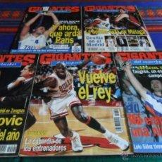 Coleccionismo deportivo: GIGANTES DEL SUPERBASKET 488 489 490 498 542 CON FICHAS MICHAEL JORDAN SABONIS TAUGRES CAMPEÓN. BE.. Lote 51970328
