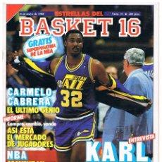 Coleccionismo deportivo: REVISTA ESTRELLAS DEL BASKET 16, Nº31 CON POSTER Y PEGATINA (8/5/1988). Lote 52472190