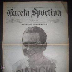 Coleccionismo deportivo: GACETA SPORTIVA - AÑO I - NUM 2 - 10 OCTUBRE DE 1922 -PORTADA JOSE SAURA - (V-3491). Lote 52561754