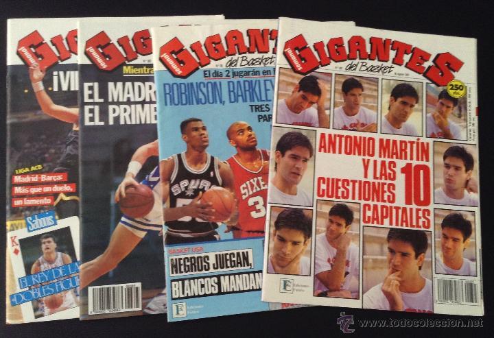 LOTE 4 REVISTAS GIGANTES DEL BASKET NUMEROS Nº 303, 304, 305, 314 CON POSTERS (Coleccionismo Deportivo - Revistas y Periódicos - otros Deportes)