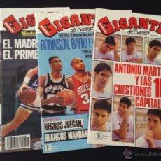 Coleccionismo deportivo: LOTE 4 REVISTAS GIGANTES DEL BASKET NUMEROS Nº 303, 304, 305, 314 CON POSTERS. Lote 52648751