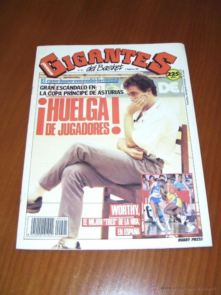 GIGANTES DEL BASKET Nº 201 - SEPTIEMBRE 1989 (Coleccionismo Deportivo - Revistas y Periódicos - otros Deportes)