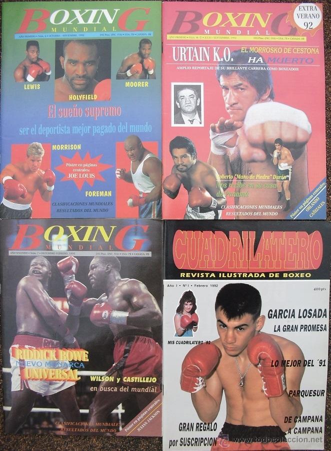 REVISTAS DE BOXEO ''BOXING MUNDIAL'' Y ''CUADRILÁTERO'' (1992-93) Y ''BOXEO Y ARTES MARCIALES'' (Coleccionismo Deportivo - Revistas y Periódicos - otros Deportes)