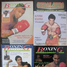 Coleccionismo deportivo: MIKE TYSON, ENCARCELADO - REVISTAS DE BOXEO ''BOXING MUNDIAL'' Y ''CUADRILÁTERO'' (1992). Lote 53379337