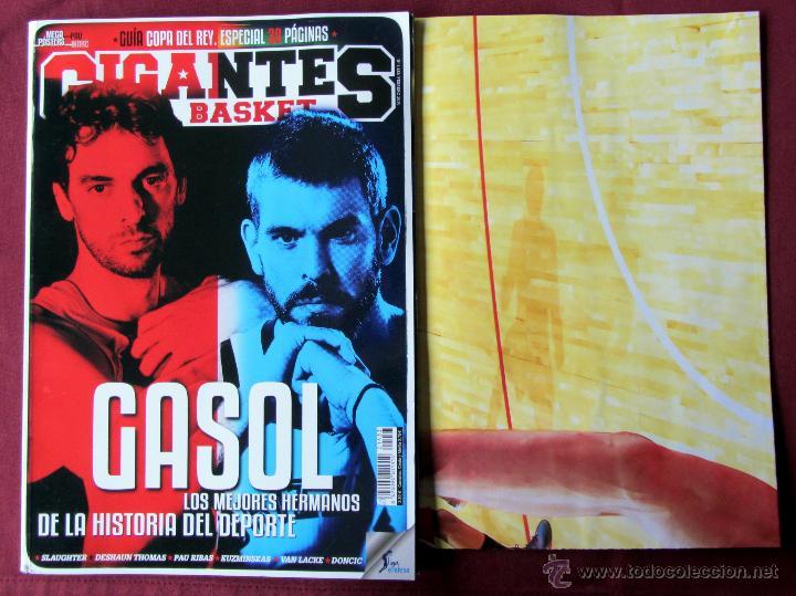 REVISTA GIGANTES DEL BASKET BALONCESTO PAU MARC GASOL POSTER 1433 FEBRERO 2015 (Coleccionismo Deportivo - Revistas y Periódicos - otros Deportes)