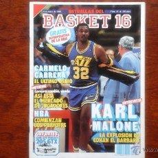 Coleccionismo deportivo: REVISTA BASKET 16 N ° 31 MAYO 1988.KARL MALONE. Lote 53691894