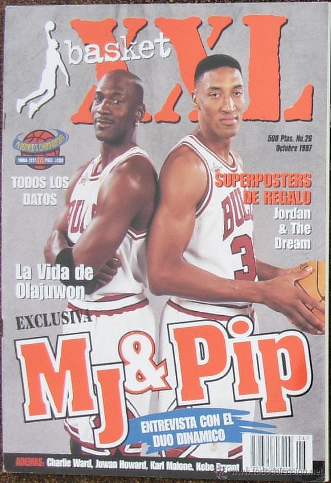 MICHAEL JORDAN & SCOTTIE PIPPEN - REVISTA ''XXL BASKET'' - OPEN MCDONALDS 1997 (Coleccionismo Deportivo - Revistas y Periódicos - otros Deportes)