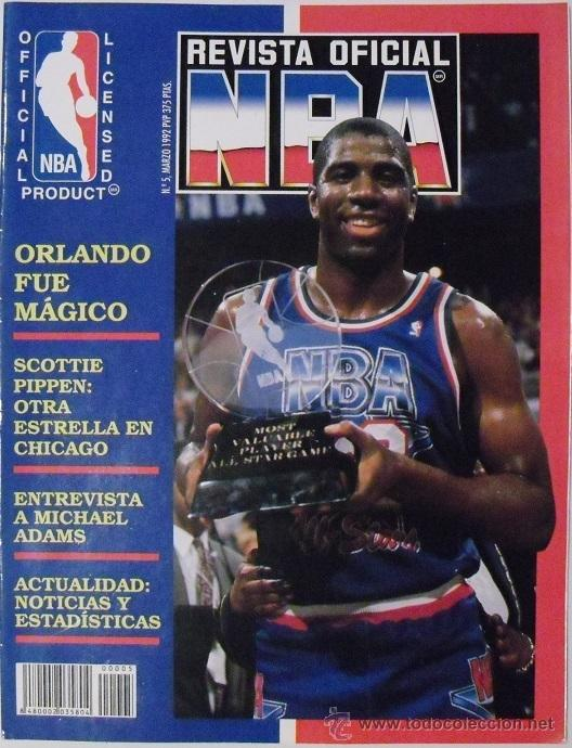 MICHAEL JORDAN & MAGIC JOHNSON - ''REVISTA OFICIAL NBA'' Y ''GIGANTES DEL BASKET'' - ALL-STAR 1992 (Coleccionismo Deportivo - Revistas y Periódicos - otros Deportes)