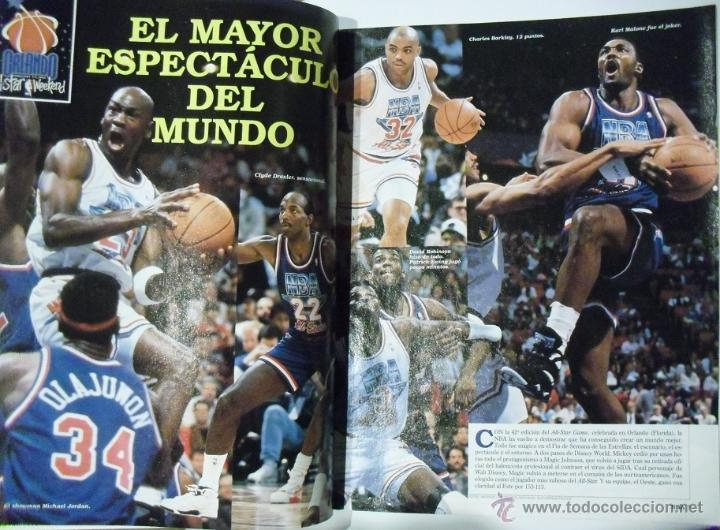 Coleccionismo deportivo: Michael Jordan & Magic Johnson - Revista Oficial NBA y Gigantes del Basket - All-Star 1992 - Foto 3 - 53986252
