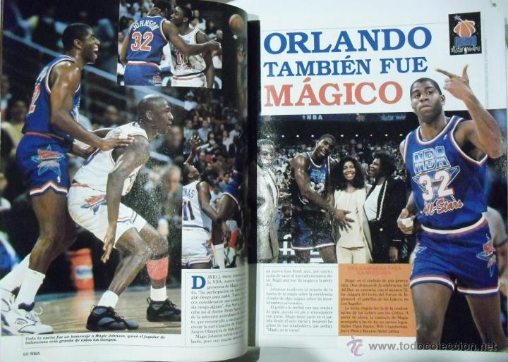 Coleccionismo deportivo: Michael Jordan & Magic Johnson - Revista Oficial NBA y Gigantes del Basket - All-Star 1992 - Foto 4 - 53986252