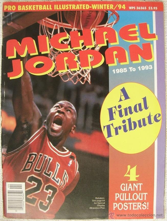 MICHAEL JORDAN - REVISTA ESPECIAL ''A FINAL TRIBUTE. 1985-1993'' - CON PÓSTERS (Coleccionismo Deportivo - Revistas y Periódicos - otros Deportes)