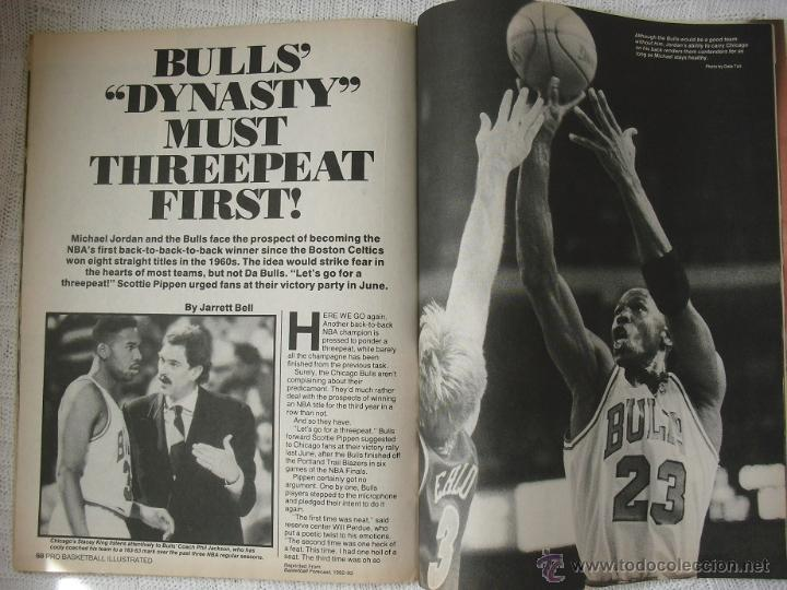Coleccionismo deportivo: Michael Jordan - Revista especial A final tribute. 1985-1993 - con pósters - Foto 6 - 54258044
