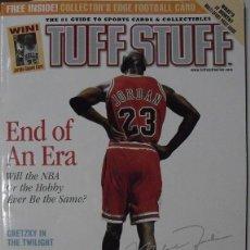 Coleccionismo deportivo: MICHAEL JORDAN - REVISTA ''TUFF STUFF'' (ABRIL 1999) - RETIRO DE LA NBA. Lote 54437738